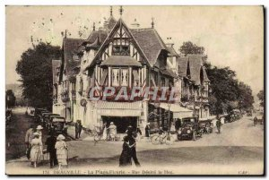 Old Postcard Deauville flowered beach desire the street hoc Spring