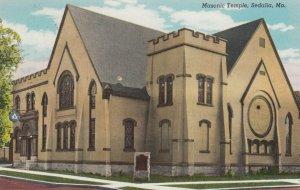 SEDALIA , Missouri , 1930-40s ; Masonic Temple