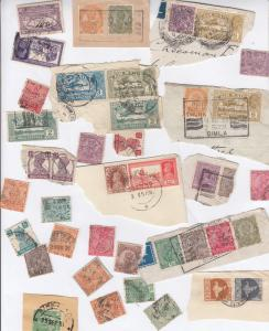 30x India Telephone Postmark WW2 Stamp Collection Old Bundle