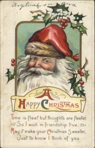 Christmas - Santa Claus & Poem Series S628 c1915 Postcard