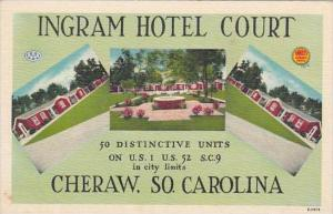 South Carolina Cheraw Ingram Hotel Court