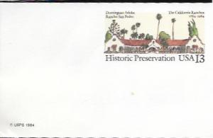 US Postcard mint - Historic Preservation - The California Ranchos 1784-1984