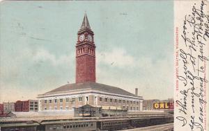Train At Union Railroad Station Seattle Washington 1907