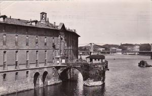 France Toulouse Vue vers l'Hotel Dieu et vestiges de l'ancien Pont 1954 Photo