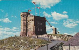 Cabot Tower, Showing Marconi's monument and powder magazine, St. John's,  New...