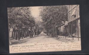 Postcard Milton PA North Front Street Used 1907