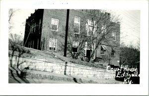 Vintage Kodak Real Photo Postcard RPPC Court House Eddyville Kentucky