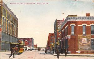 Sioux City Iowa~4th Street @ Virginia~Belle Sioux Fine Whiskies~Beer~Trolley~'08