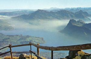 Switzerland - View toward Lake Lucerne from Mt Pilatus
