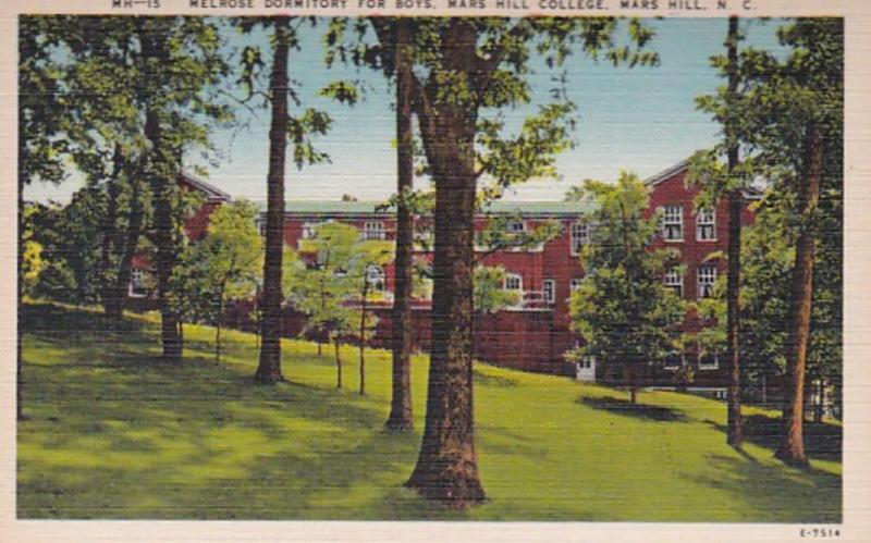 North Carolina Mars Hill Melrose Dormitory For Boys Mars Hill College