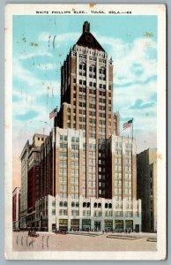 Postcard Tulsa OK 1932 Waite Phillips Building Now Philtower Building CDS Cancel