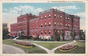 Michigan Lansing Womans Building M A C 1922