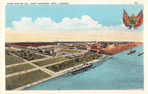 East Winsor Ont. Canada aerial view Ford Motor Co antique pc ZD549862