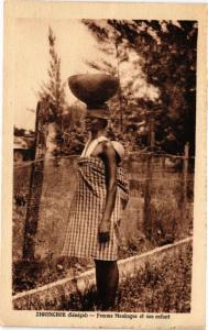 CPA Senegal-Ziguinchor-Femme Mankagne et son enfant (235333)