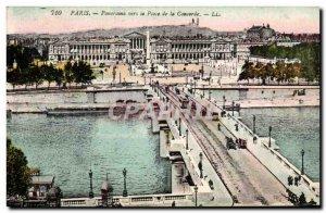 Old Postcard Paris Panorama Towards Place De La Concorde
