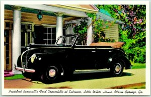 Warm Springs, Georgia Postcard President' Roosevelt's Ford Convertible c1940s