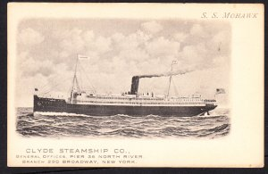Clyde Steamship Co - S.S. Mohawk - 1909