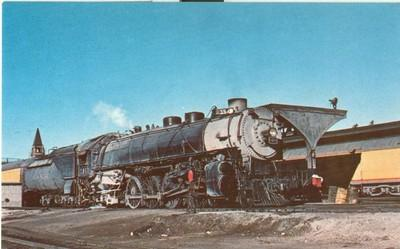 Union Pacific 7857, Mountain type locomotive at Cheyenne,...