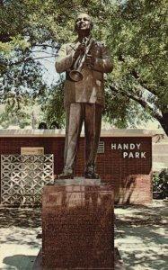 Memphis, TN, W.C. Handy Statue, Beale Street, Handy Park, Vintage Postcard g9049