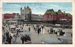 Marlborough  Blenheim Hotel, Atlantic City, Early Postcard, Used in 1925