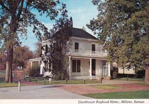 Eisenhower Boyhood Home Abilene Kansas