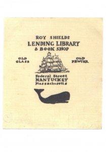 Ray Shields Book Nantucket Library Shop Massachusetts Bookplate Postcard