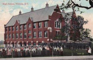 VICTORIA, British Columbia, Canada, 1900-10s; High School