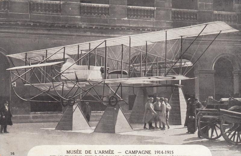 France - musee de l´armee Army Museum Airplane - d´avion bi wing WWI era