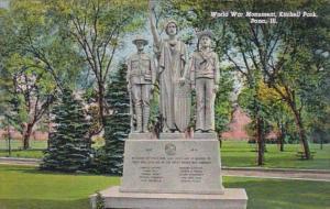 Illinois Pana World War Memorial Kitchell Park