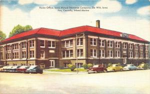 De Witt Iowa Mutual Insurance Company Home Office~1940s Cars in Street