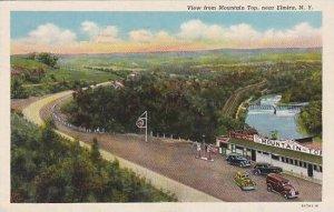New York Elmira View From Mounyain Top 1948 Curteich