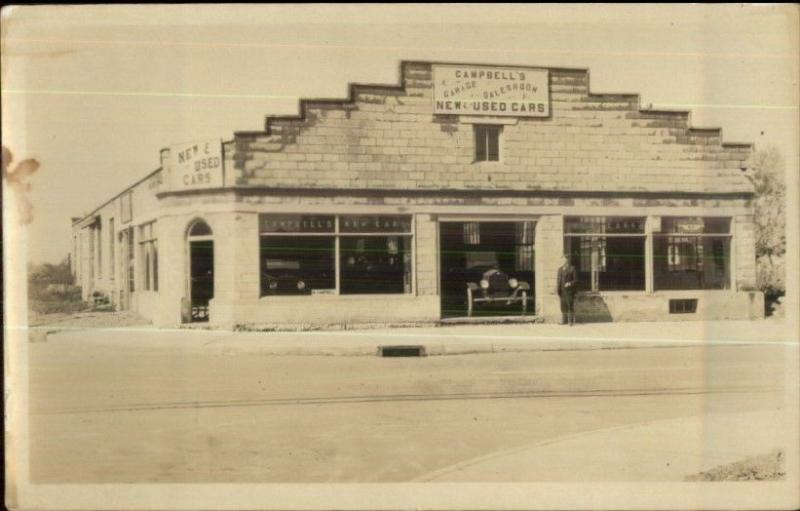 Campbell'S Used Cars >> Campbell S New Used Cars Dealership Showroom Real Photo