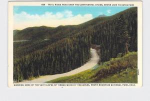 ANTIQUE POSTCARD NATIONAL STATE PARK ROCKY MOUNTAIN TRAIL RIDGE ROAD GRAND LAKE