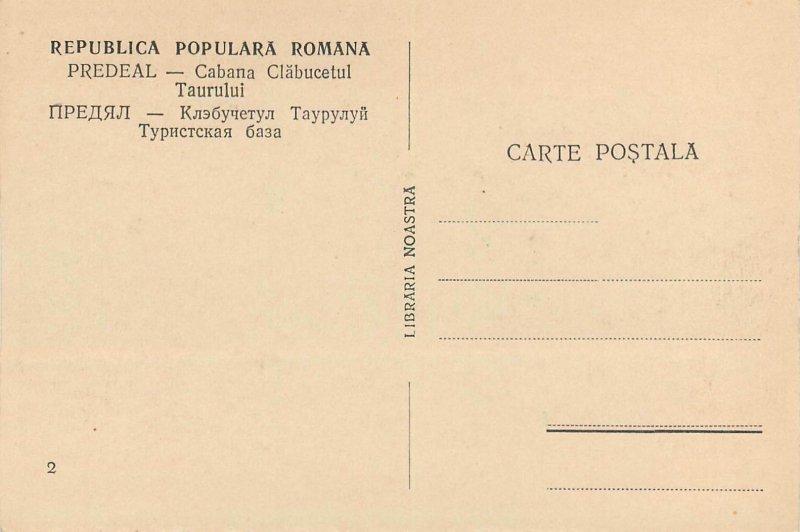 Romania '50 Vedere Statiunea Predeal Cabana Clabucet