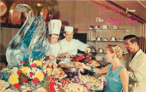 Ice Sculpture Food Wilbur Clark Desert Inn roadside Western Postcard 20-28