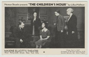 NYC STAGE THEATRE c1936 Maxine Elliott's Theatre The Children's Hour Postcard
