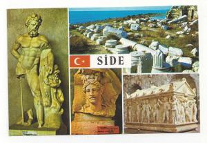 Turkey Side Museum Multiview Hercules Greek Artifact Postcar
