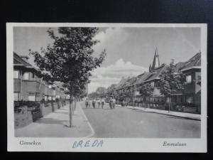 Ginneken BREDA Emmalaan - Old RP Postcard