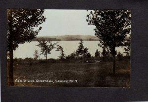 ME Lake Sebasticook Newport Maine Real Photo RPPC Postcard RP PC