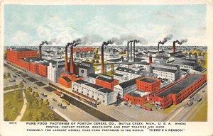 Advertising Post Card Postum Cereal Co Battle Creek, MI, USA Writing on back