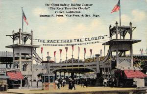 Venice CA Race Thru The Clouds Double Roller Coaster~Exhilarating-Inspiring 1913