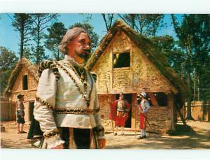 Jamestown VA Homes Custumes Colonial Houses Swords   Postcard # 5632