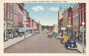 Tennessee Greeneville Main Street Looking North