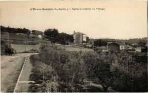 CPA AK MARSEILLE - Haute-Gavotte Église et entree du Village (986517)