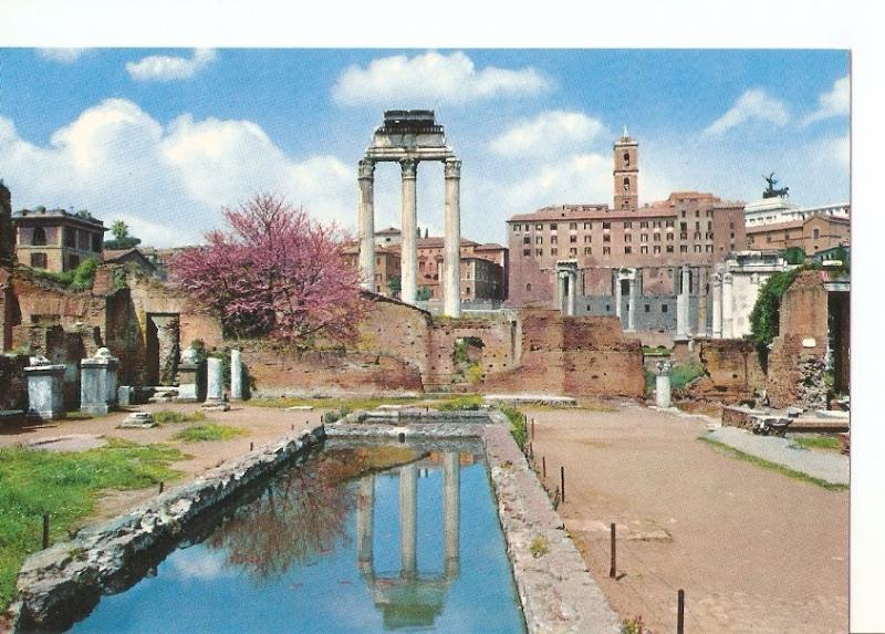 Postal 033986 : Roma Roman Forum?Temple of Castor and Pollux and Capitolinum ...