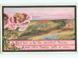Divided-Back PRETTY WOMAN Risque Interest Postcard AA7832