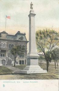 JANESVILLE, Wisconsin, 1900-10s; Soldiers Monument, TUCK # 5806