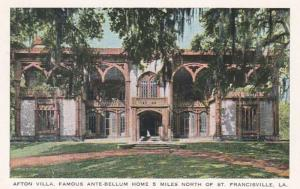 Louisiana St Francisville Afton Villa Famous Ante Bellum Home