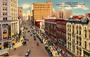 Michigan Grand Rapids Monroe Avenue Looking East From Campau Square 1949