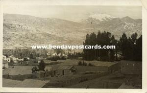 bolivia, LA PAZ, Partial View (1936) RPPC